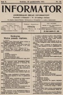 Informator : uniwersalny organ informacyjny. 1913, nr30