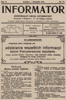 Informator : uniwersalny organ informacyjny. 1913, nr31