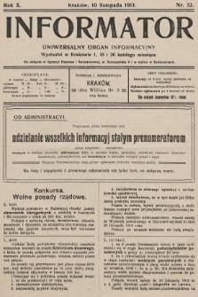 Informator : uniwersalny organ informacyjny. 1913, nr32