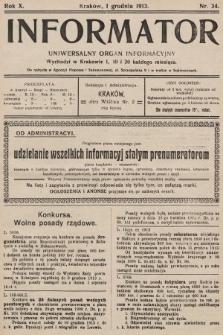 Informator : uniwersalny organ informacyjny. 1913, nr34