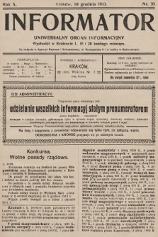 Informator : uniwersalny organ informacyjny. 1913, nr35