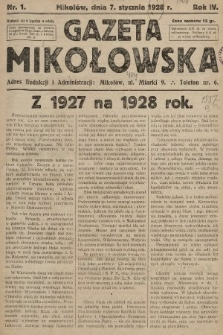 Gazeta Mikołowska. 1928, nr1