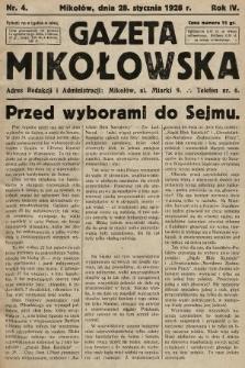 Gazeta Mikołowska. 1928, nr4