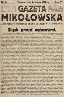 Gazeta Mikołowska. 1928, nr5