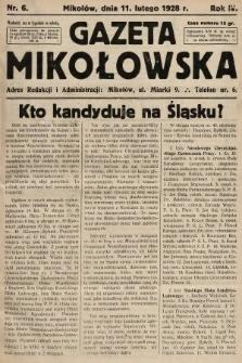 Gazeta Mikołowska. 1928, nr6