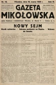 Gazeta Mikołowska. 1928, nr10