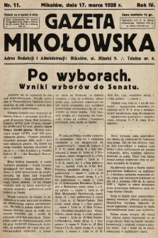 Gazeta Mikołowska. 1928, nr11
