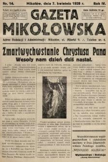 Gazeta Mikołowska. 1928, nr14
