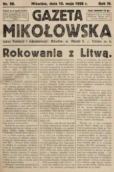 Gazeta Mikołowska. 1928, nr20