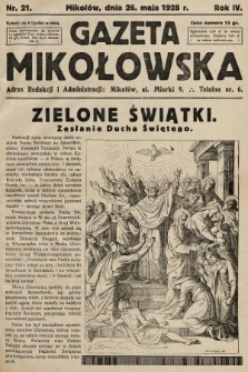 Gazeta Mikołowska. 1928, nr21