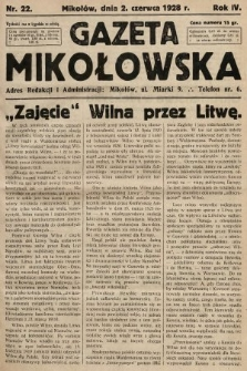 Gazeta Mikołowska. 1928, nr22