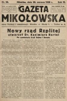 Gazeta Mikołowska. 1928, nr26