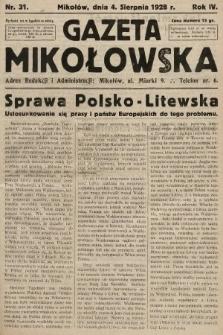 Gazeta Mikołowska. 1928, nr31