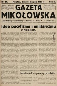 Gazeta Mikołowska. 1928, nr34