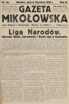Gazeta Mikołowska. 1928, nr36