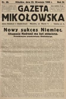 Gazeta Mikołowska. 1928, nr38