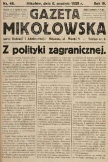 Gazeta Mikołowska. 1928, nr49