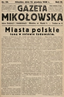 Gazeta Mikołowska. 1928, nr50