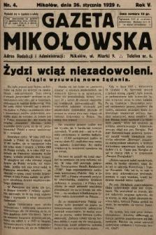 Gazeta Mikołowska. 1929, nr4