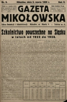 Gazeta Mikołowska. 1929, nr9
