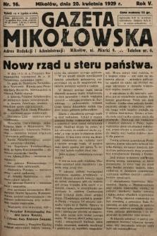 Gazeta Mikołowska. 1929, nr16