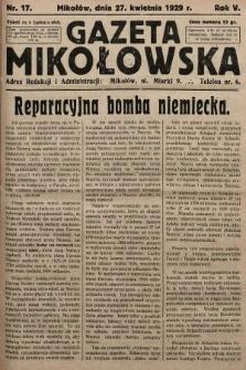 Gazeta Mikołowska. 1929, nr17