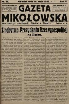 Gazeta Mikołowska. 1929, nr19