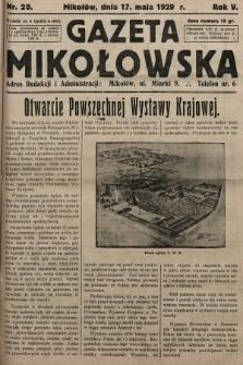 Gazeta Mikołowska. 1929, nr20