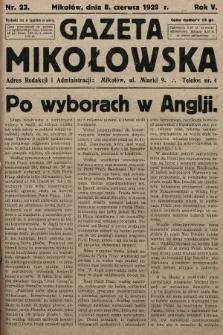 Gazeta Mikołowska. 1929, nr23