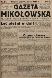 Gazeta Mikołowska. 1929, nr24