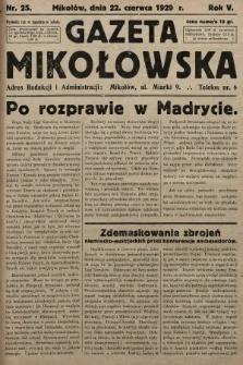 Gazeta Mikołowska. 1929, nr25