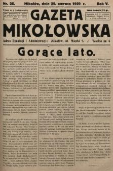 Gazeta Mikołowska. 1929, nr26