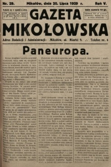 Gazeta Mikołowska. 1929, nr29
