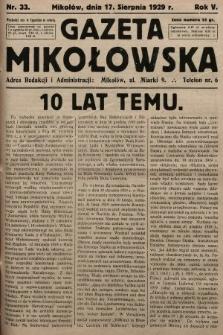 Gazeta Mikołowska. 1929, nr33