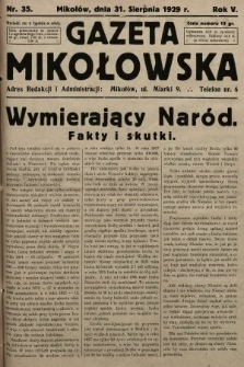 Gazeta Mikołowska. 1929, nr35