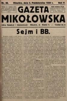 Gazeta Mikołowska. 1929, nr40