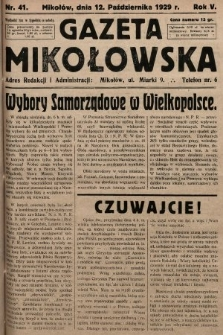 Gazeta Mikołowska. 1929, nr41