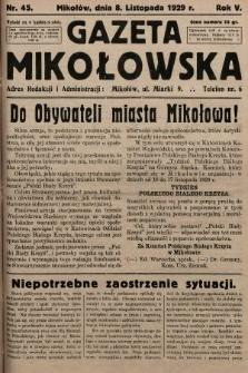 Gazeta Mikołowska. 1929, nr45