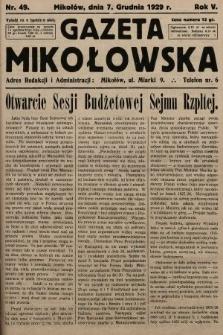 Gazeta Mikołowska. 1929, nr49
