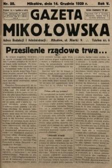 Gazeta Mikołowska. 1929, nr50
