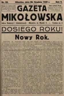 Gazeta Mikołowska. 1929, nr52