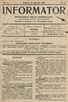 Informator : uniwersalny organ informacyjny. 1908, nr2