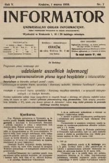 Informator : uniwersalny organ informacyjny. 1908, nr7