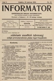 Informator : uniwersalny organ informacyjny. 1908, nr18