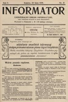Informator : uniwersalny organ informacyjny. 1908, nr21