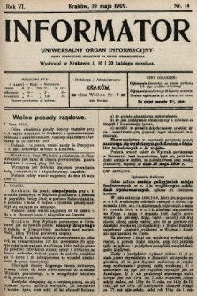 Informator : uniwersalny organ informacyjny. 1909, nr14
