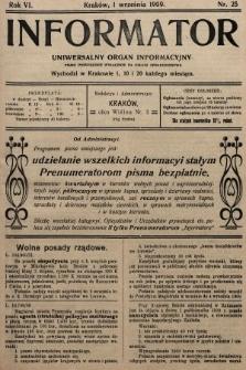Informator : uniwersalny organ informacyjny. 1909, nr25