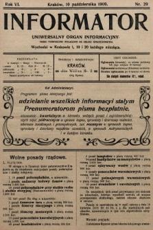 Informator : uniwersalny organ informacyjny. 1909, nr29