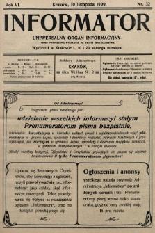 Informator : uniwersalny organ informacyjny. 1909, nr32