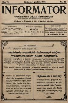 Informator : uniwersalny organ informacyjny. 1909, nr34